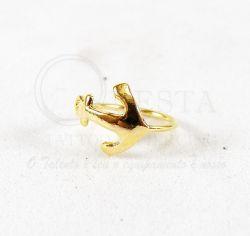 Argola Aço Banho de Ouro para Cartilagem - Ancora  - Y