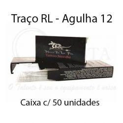 Agulhas Marco De La Piel - TRAÇO RL - Caixa c/ 50 agulhas