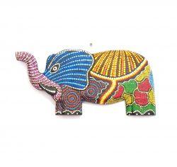 Elefante em Madeira com desenho Mosaico 002