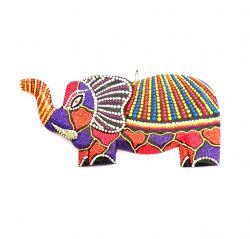 Elefante em Madeira com desenho Mosaico 006