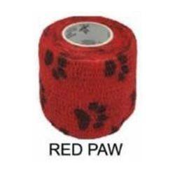 Bandagem para Biqueira Phanton HK 5 cm - Vermelho Pata (Red with Paw)