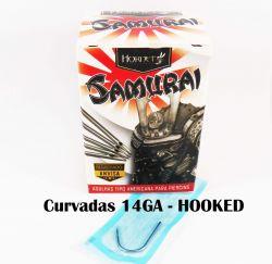 Agulhas Body Piercing  SAMURAI 14GA 1.6mm (HOOKED) - CURVADAS