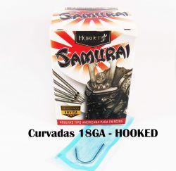 Agulhas Body Piercing  SAMURAI 18GA 1.0mm (HOOKED) - CURVADAS