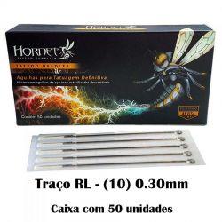 Agulhas HORNET - TRAÇO RL (10) - Caixa c/ 50 agulhas