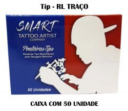 Ponteira SMART TATTOO - TRAÇO / BUCHA - Cx 50 uni. (TIP)