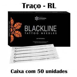 Agulhas Black Line - TRAÇO - Caixa c/ 50 agulhas