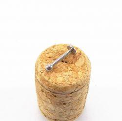 Labret  Aço Cirúrgico 1.6mm BOLA - O
