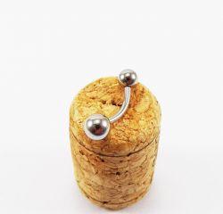Banana Bell  Aço Cirúrgico 1.6mm sem PEDRA (UMBIGO) - Q