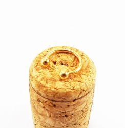 Circular Barbell Aço PVD DOURADO 1.2mm - A