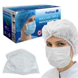 Máscara Cirúrgica PROTCLEAN BRANCA - Pct 50 uni.